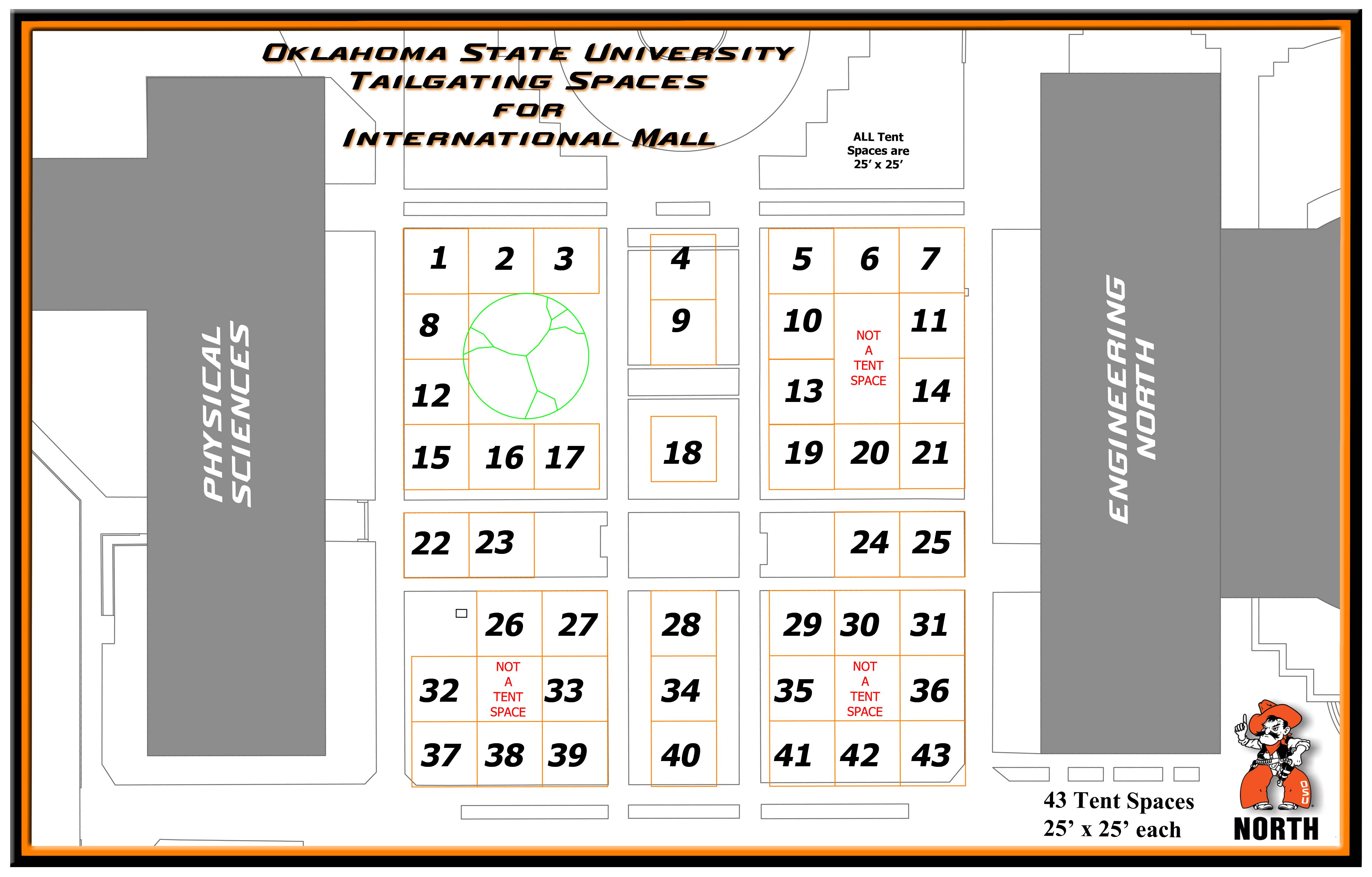 Tailgating Spaces Map for International Mall